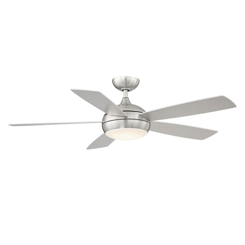 Odyssey Brushed Nickel 52-Inch ADA Ceiling Fan with LED Light Kit