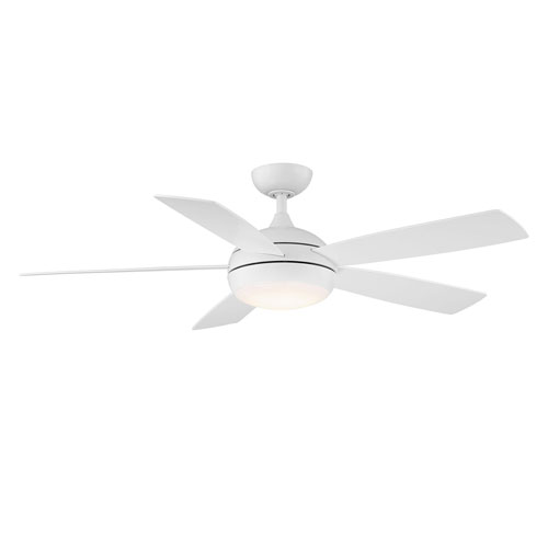 Odyssey Matte White 52-Inch ADA Ceiling Fan with LED Light Kit