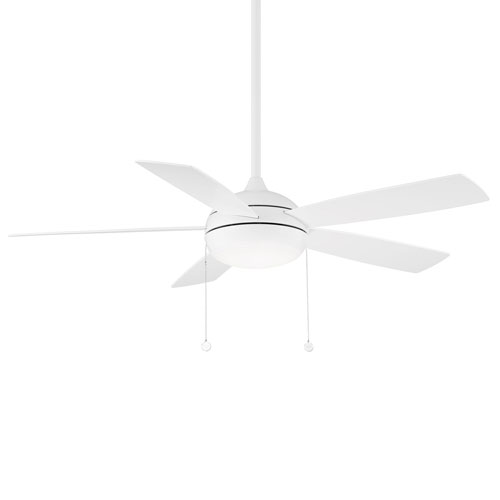 Disc II Matte White 52-Inch ADA Ceiling Fan with LED Light Kit