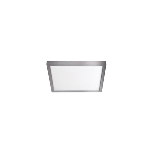 Brushed Nickel 7-Inch 3000K LED ADA Square Flush Mount