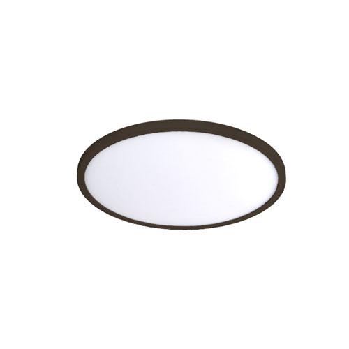 Bronze 11-Inch 3000K LED ADA Round Flush Mount