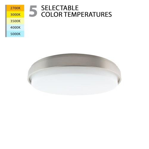 Lithium Brushed Nickel 19-Inch LED Flush Mount