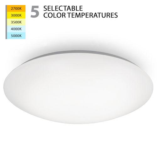 Glo White 17-Inch LED Flush Mount