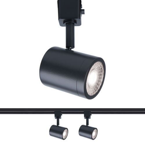 Charge Black Two-Inch LED ADA Head Track Light, Pack of 2