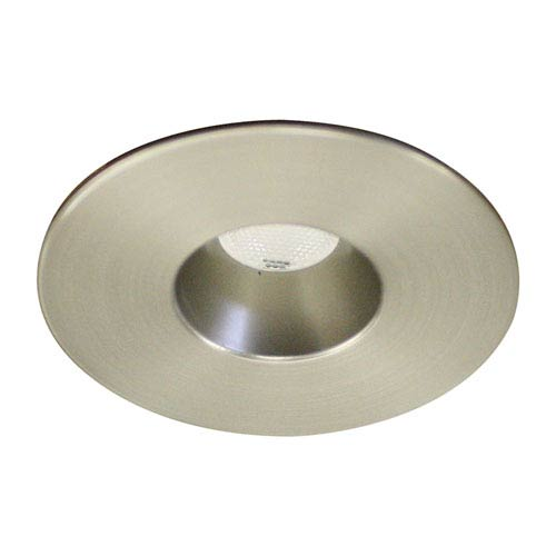 LEDme Brushed Nickel LED Round Mini Recessed Light with 4500K Cool White