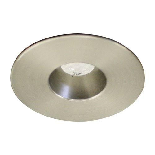 LEDme Brushed Nickel LED Round Mini Recessed Light with 3000K Soft White
