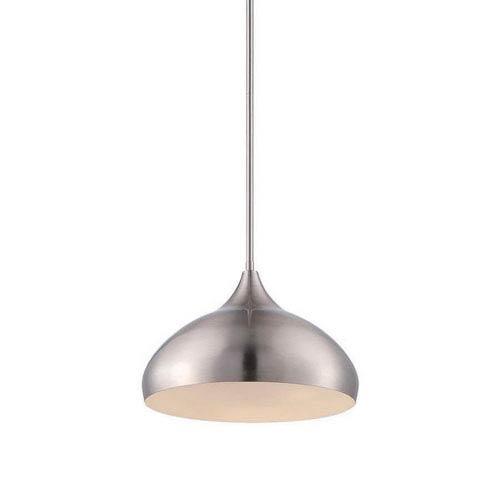 Flair Brushed Nickel LED Pendant with Spun Metal Housing