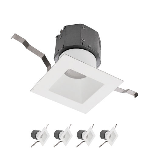 Pop-in White Nine-Inch LED ADA Recessed Downlight, Pack of 4