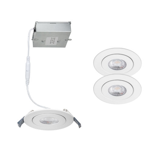 Lotos White Five-Inch LED ADA Recessed Model Kit, Pack of 2