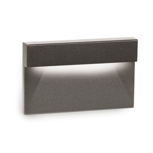 Signature Bronze Three-Inch LED ADA Landscape Horizontal Step and Wall Light