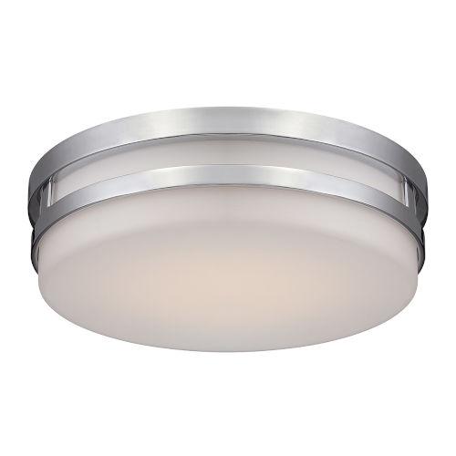 Vie Brushed Nickel 14-Inch 3500K LED Flush Mount