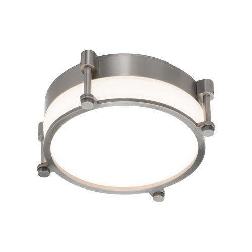 Wright Brushed Nickel 10-Inch LED Flush Mount