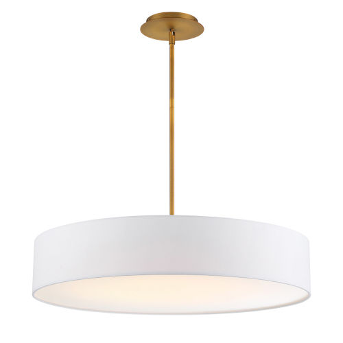 Manhattan Aged Brass 26-Inch LED Pendant