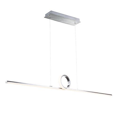 Loophole Brushed Aluminum 52-Inch LED Pendant