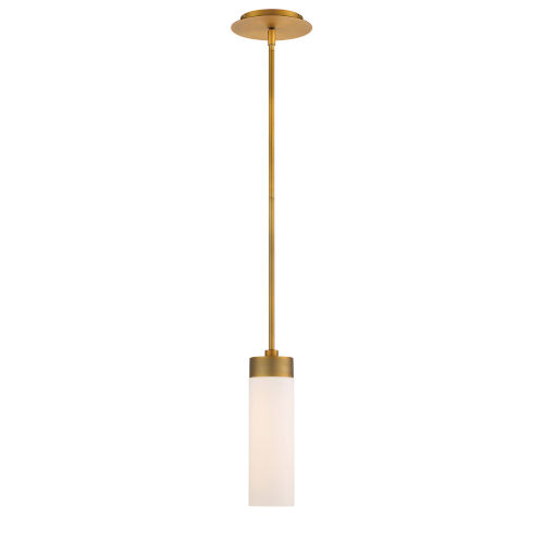 Elementum Aged Brass Four-Inch 3500K LED Mini Pendant