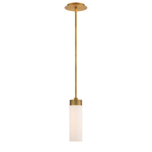 Elementum Aged Brass Four-Inch 3000K LED Mini Pendant