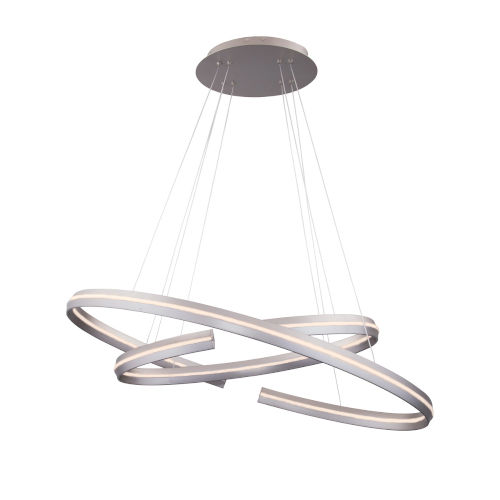 Orbit Satin Nickel 31-Inch Two-Light LED Pendant