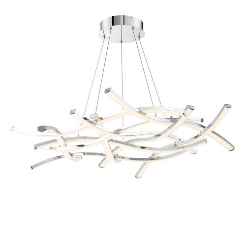 Divergence Chrome 44-Inch LED Chandelier