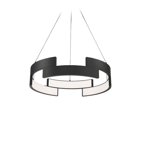 Trap Black 20-Inch LED Pendant