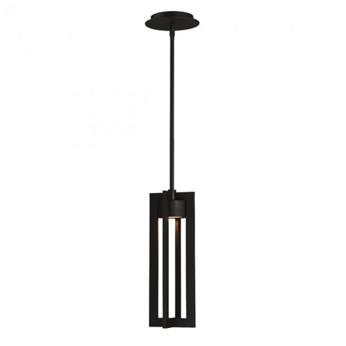 Chamber Black 15-Inch LED Outdoor Pendant