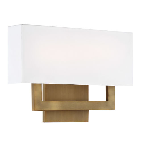 Manhattan Aged Brass 15-Inch 2700K LED Wall Sconce