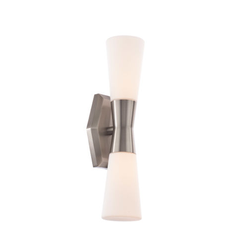 Locke Brushed Nickel Two-Light LED Wall Sconce