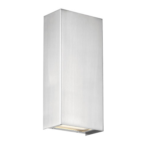 Blok Satin Nickel Three-Inch LED Vertical Wall Sconce with Emergency Backup Battery