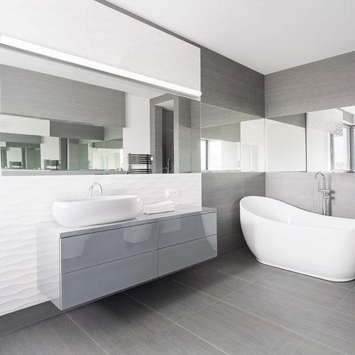 Nightstick Brushed Aluminum 73-Inch LED Bath Vanity
