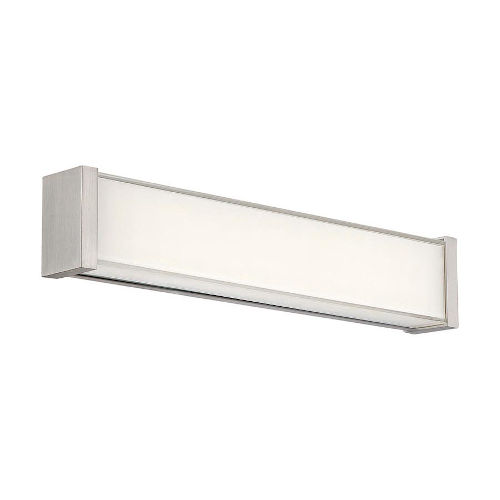 dweLED Svelte Brushed Nickel 16-Inch 3000K LED Bath Bar Light