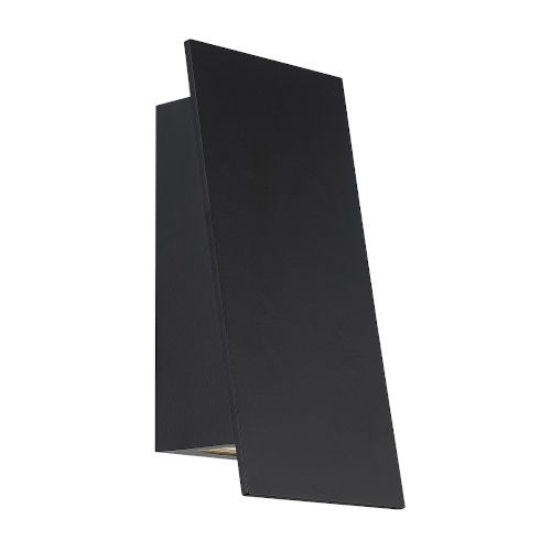 Slant Black Three-Inch LED Outdoor Wall Sconce