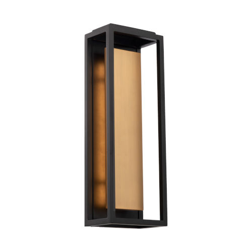 Hathaway Black and Aged Brass 18-Inch LED Outdoor Wall Light