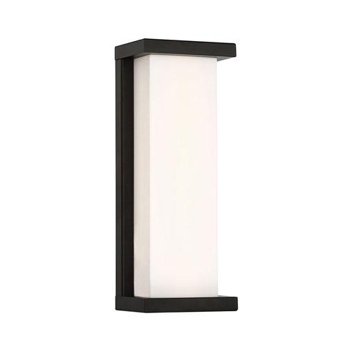 Case Black 14-Inch LED Wall Light