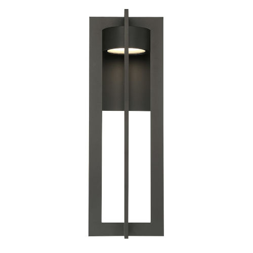 Chamber Bronze 10-Inch LED Outdoor Wall Sconce