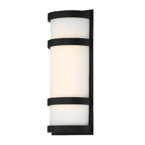 Latitude Black 14-Inch 3000K LED Outdoor Wall Sconce