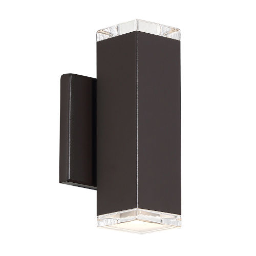 Block Bronze Four-Inch 3000K Two-Light LED Outdoor Wall Sconce