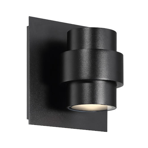 Barrel Black Five-Inch LED Outdoor Wall Sconce