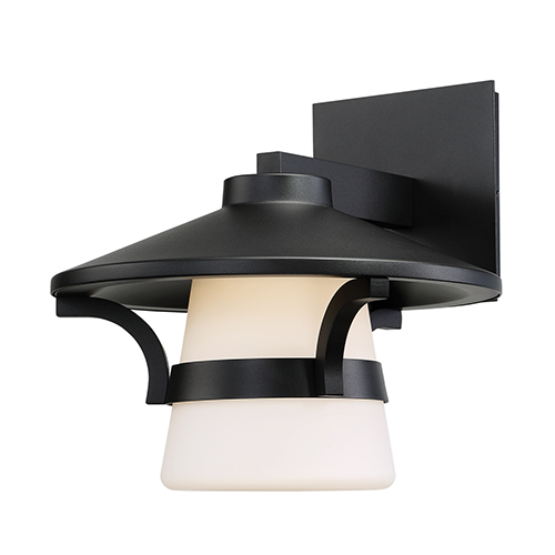 Abode Black 11-Inch LED Outdoor Wall Light