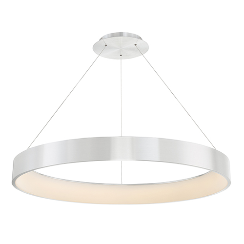 Corso Brushed Aluminum 43-Inch LED Pendant