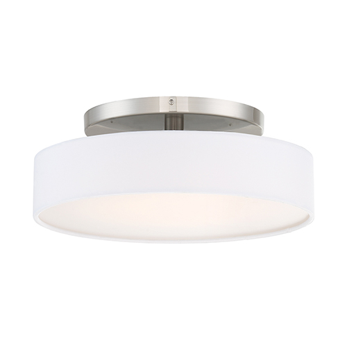 Manhattan Brushed Nickel 14-Inch LED Convertible Flush Mount