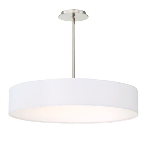 Manhattan Brushed Nickel 26-Inch LED Pendant