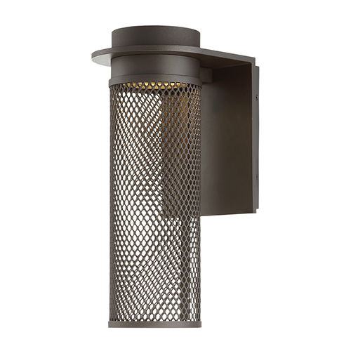 dweLED Mesh Bronze 5-Inch LED Outdoor Wall Light