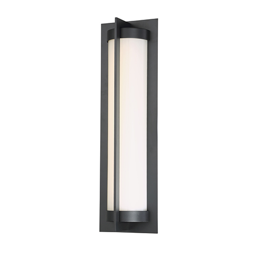 Oberon Black 20-Inch LED Outdoor Wall Light