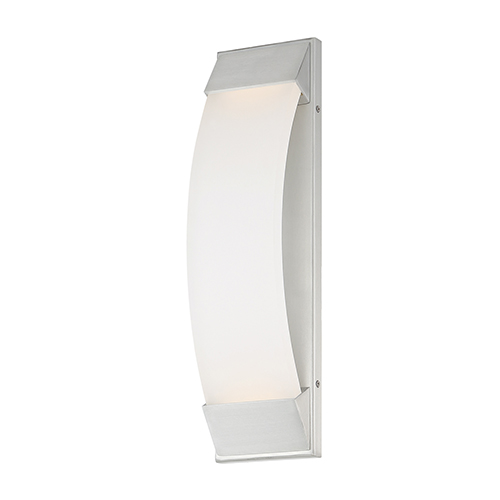 dweLED Panorama Brushed Aluminum 5-Inch LED Outdoor Wall Light
