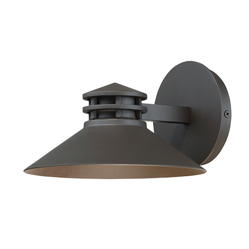 dweLED Sodor Bronze 8-Inch LED Outdoor Wall Light