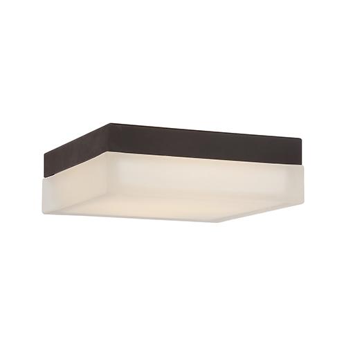 dweLED Dice Bronze 6-Inch LED Flush Mount with 2700K Warm White