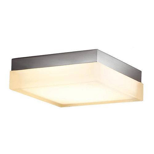 Dice Brushed Nickel 6-Inch LED Flush Mount with 3000K Soft White
