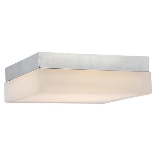 Dice Chrome 9-Inch LED Flush Mount with 2700K Warm White