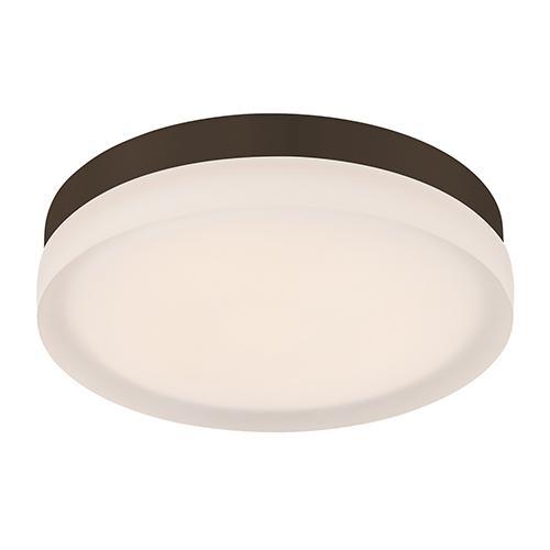 dweLED Slice Bronze 9-Inch LED Flush Mount with 2700K Warm White