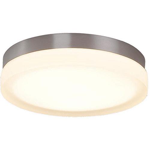 dweLED Slice Brushed Nickel 9-Inch LED Flush Mount with 3000K Soft White