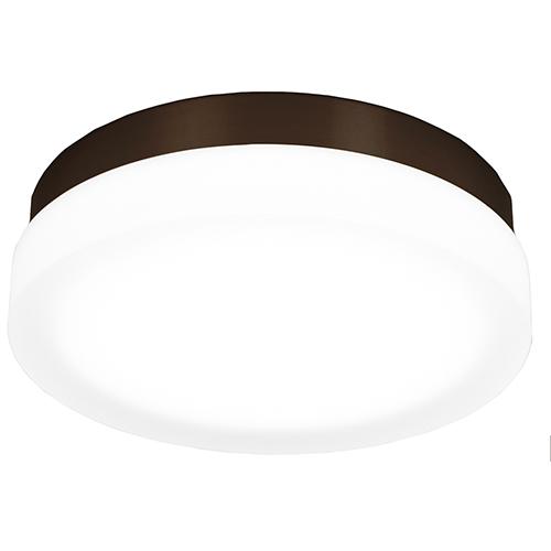 dweLED Slice Bronze 11-Inch LED Flush Mount with 3000K Soft White